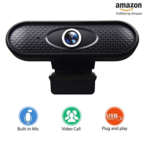🥇 Webcam – Webcam PC para Ordenador Cámara Web Full HD 720P con micrófono
