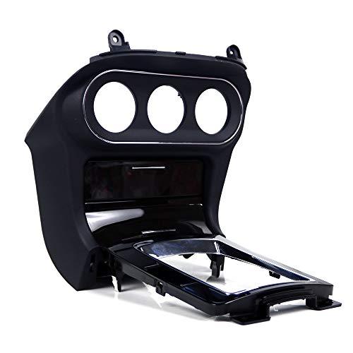 EUROCUSTOMPROPARTS ECPP-AUTOTEILE A/C Gloss Black/Black Base Dash Console Temp Surround w/Shifter Panel Replacement Compatible with 10-15 Mitsubishi Lancer Evolution EVO MR at (LHD) (Console Evolution)
