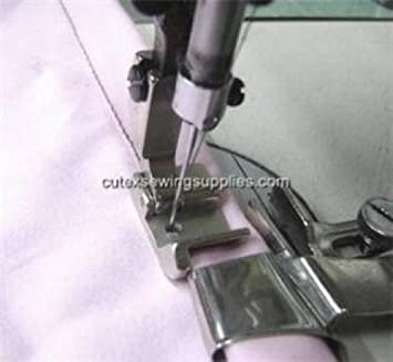 Hem Size 1 Double Fold Clean Finish Hemmer With Swing-Away Bracket For Sewing Machine