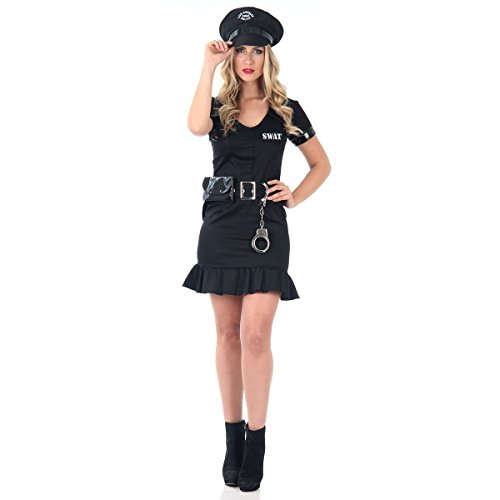 Policial Heat Girls Adulto Sulamericana Fantasias Preto M