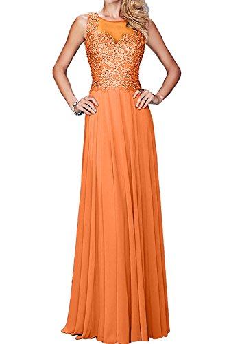 mit Damen La Braut Abendkleider Spitze Promkleider Orange Kleider Brautmutter Partykleider mia Langes HHFzxnUB