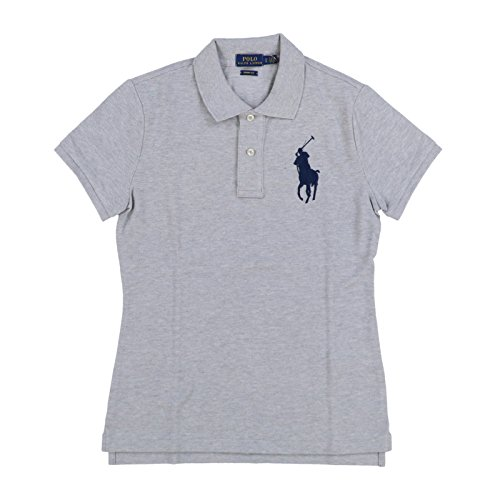 Polo Ralph Lauren Womens Big Pony Skinny Fit Polo Shirt (XL, Taylor Heather) by Polo Ralph Lauren