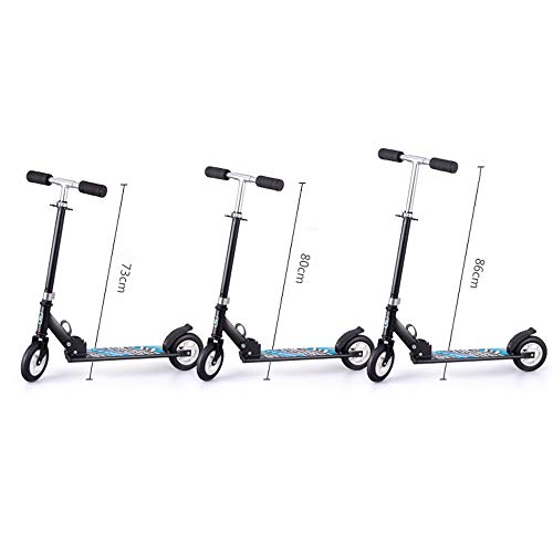 FDSjd Scooter King Scooter Folding Two Wheels Three Wheels Yo-Yo Beginner Big Boy Scooter (Color : Black, Edition : Three Rounds) by FDSjd (Image #4)