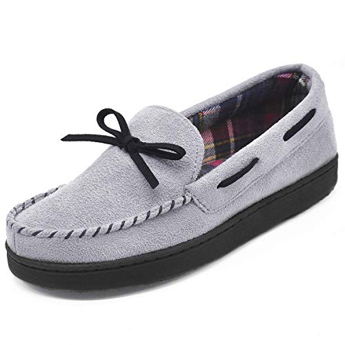 RockDove Women's Flannel Lined Moccasin Slipper with Memory Foam, Size 9 US Women, - Penny Air Moc