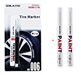 White tire marker and black Correction pen set Universal Waterproof Permanent oil based Paint Markers Car Tyre Tire Tread Rubber for Scuba gear