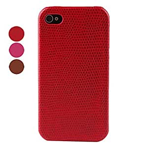 ZL Litchi Pattern Protective Hard Case for iPhone 4 and 4S (Assorted Colors) , Rose