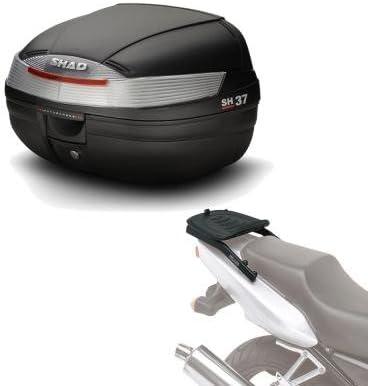 Kit fijacion y Maleta baul Trasero sh37 Compatible con Yamaha x-MAX 250 2010-2013 Yamaha x-MAX 125 2010-2013 Sh37he156