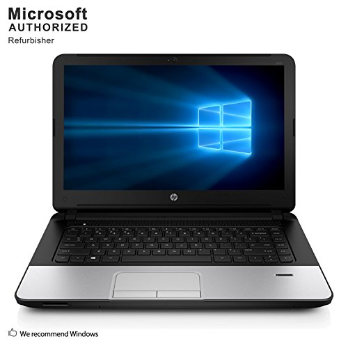 (HP 340 G1 14'' Business Laptop Computer(Intel Core i3-4010U 1.7G, 8GB DDR3, 320G, VGA, HDMI, USB 3.0, WiFi,Windows 10 Pro 64)(Certified Refurbished)-Multi-Language Support English/Spanish)