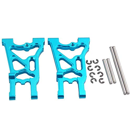 Toyoutdoorparts RC 107900 Blue Aluminum Rear Lower Suspension Arm & Pin (L/R) for HPI Electric WR8 Flux