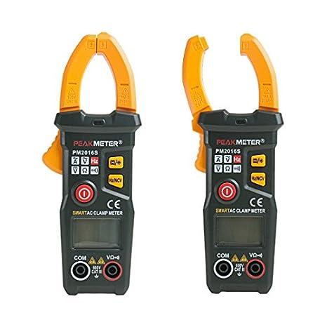 Medidor, eDealMax autorizado Mini multímetro Digital de voltaje del amperímetro ohmiómetro Metro de la abrazadera probador portátil: Amazon.com: Industrial ...