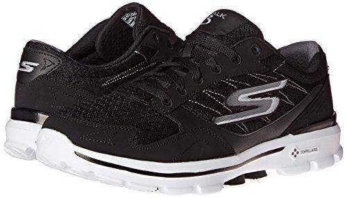 Skechers Performance Men's Go Walk 3 Compete Lace-Up Walking Shoe, Black/White, 10 M US Photo #5