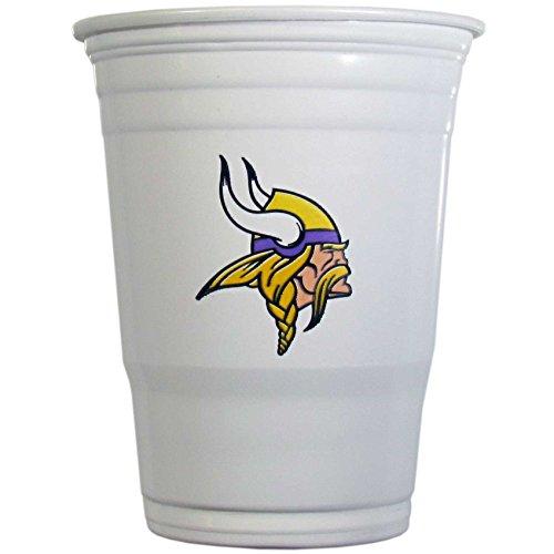 NFL Siskiyou Sports Minnesota Vikings Plastic Game Day Cups, 24 Count, (18 oz) White