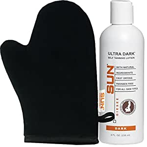 Ultra Dark 8 fl oz, Sunless Tanning Lotion and Self Bronzer | Flawless Fake Tan Lotion | Sunless Bronzing Cream | Instant, Quick-Drying, Streak-Free Self Tanner, Perfect For Fair To Medium Skin Tones