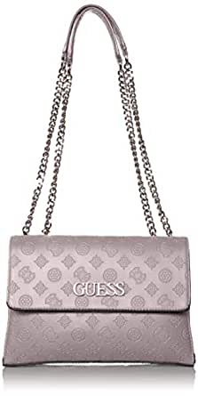 GUESS Janelle Convertible Crossbody Flap, Grey