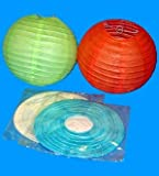 4 Assorted (Different) Color Chinese/japanese Paper Lanterns 16'' Diameter