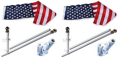 Allied Flag American Home Nylon 3 5-Feet US Flag Set 5-Feet Spinning Flag Pole