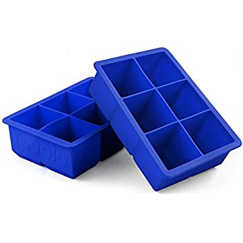 Tovolo Stratus Blue Silicone King Cube Ice Tray, Set of 2