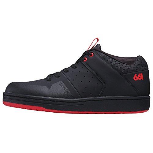Sixsixone filtro Zapatos Flat, Black, 40,5/8