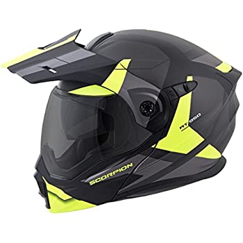 ScorpionEXO Unisex-Adult Modular/Flip Up Adventure Touring Motorcycle Helmet (Hi-Viz
