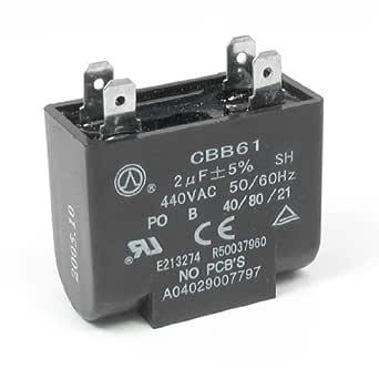 DealMux 440V 2uF de 4 pines del rectángulo del acondicionador de ...