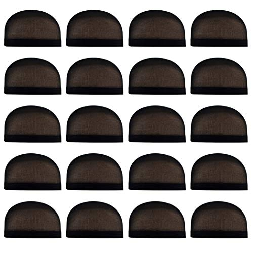 Miayon 20pcs Black Wig Cap Unisex Natural Nylon Wig Caps for Kids,Girl and Women]()