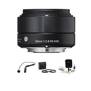 Sigma 30mm f/2.8 DN Lens for Sony E-mount Nex Series Cameras, USA. Bundle