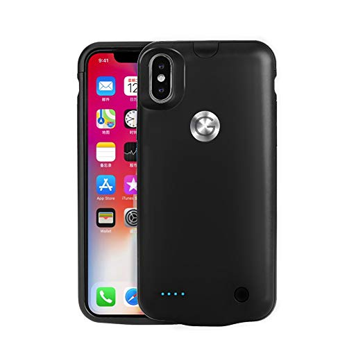iPhone X Battery Case, Gomeir 4000mAh Portable Charging Case Ultra Slim Rechargeable Protective Extended Battery Charger Case (Black)