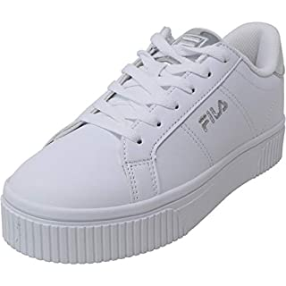 Fila Women's Panache Sneaker, White/White/Metallic Silver, 12