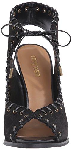 Black Sandales Nine talons West nbsp; Hotstuff à cuir wrY0qtUr