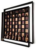 """AMBRIZZOLA Quadretti 41"""" Wooden Wall Chess Board"""
