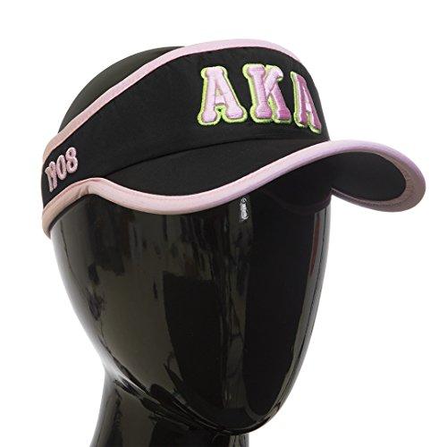 Alpha Embroidered Visor - Alpha Kappa Alpha Sorority Feather- light Visor Black