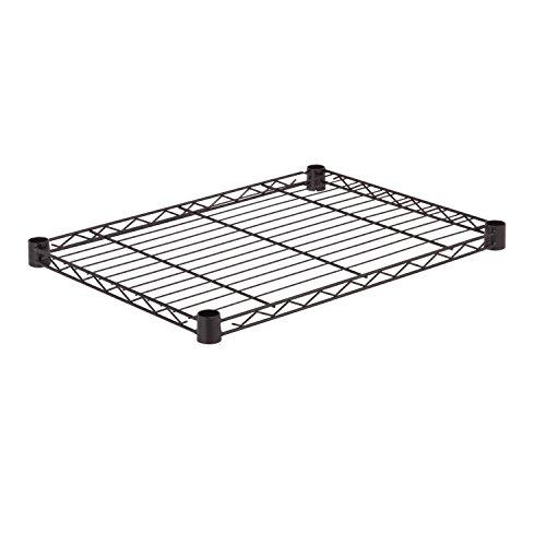 - Honey-Can-Do SHF350B1824 Steel Wire Shelf for Urban Shelving Units, 350lbs Capacity, Black, 18Lx24W