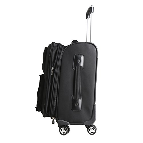 NFL Chicago Bears Domestic Carry-On Spinner, 20-Inch, Black