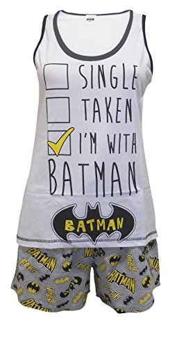 TDP Textiles Batman DC Comics Taken Ladies 2-Piece Shortie Shortie Pajama Set US 6-8
