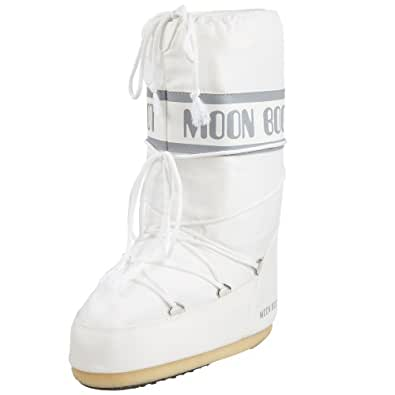 Tecnica Unisex Moon Nylon Winter Fashion Boot, White, 35/38 EU, 3.5-6 US Men's, 4.5-7 US Women's