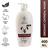 Petlogix Organic Oatmeal Wash Infused with Coconut Anti Itch and Sulphate Free Calming Formula for Dogs and Puppies (400 ml)