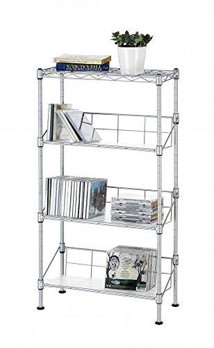 Slim Case Matte Inserts Dvd - Silver 4-Tier Media CD Rack Stand Racks Organizer