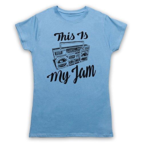 This Is My Jam Music Slogan Camiseta para Mujer Azul Cielo