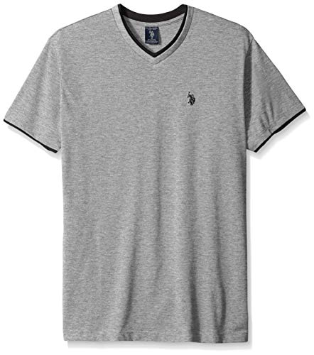 U.S. Polo Assn. Mens Short Sleeve Solid Classic Fit V-Neck T-Shirt