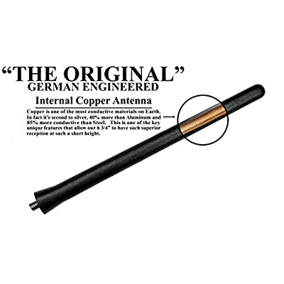 AntennaMastsRus - The Original 6 3/4 Inch is Compatible with Nissan Versa (2012-2020) - Car Wash Proof Short Rubber Antenna - Internal Copper Coil - Premium Reception - German Engineered: Automotive