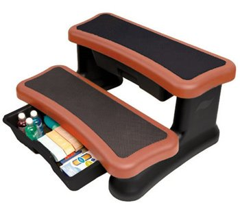 Smart Step Spa Storage Steps - Redwood by Leisure Concepts
