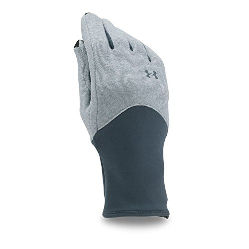 Under Armour Women's ColdGear Infrared Fleece Gloves, Steel/Stealth Gray, (Lady Fleece Glove)