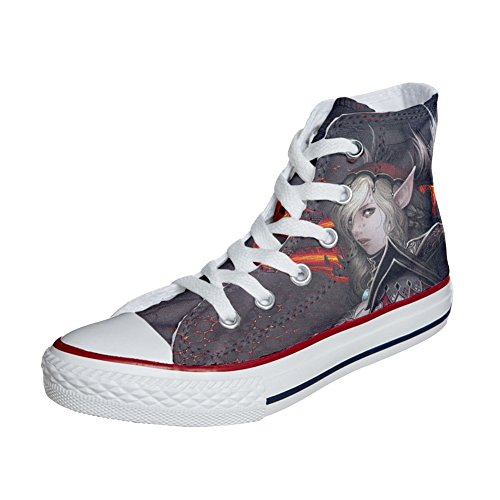 Converse All Star zapatos personalizados (Producto Handmade) Woman Warrior