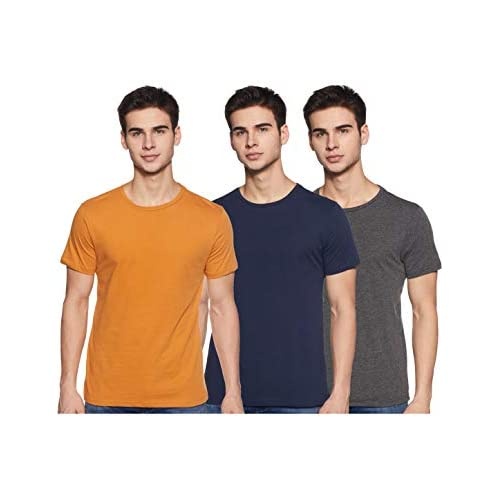 41KlFtVstbL. SS500  - Amazon Brand - Symbol Men's T-Shirt (Combo Pack of 3)