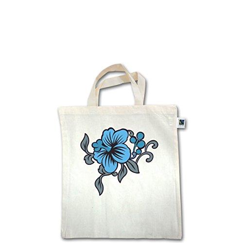 Blumen & Pflanzen - Blumen - Unisize - Natural - XT500 - Fairtrade Henkeltasche / Jutebeutel mit kurzen Henkeln aus Bio-Baumwolle