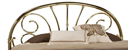 Hillsdale Furniture 1071HKR Jackson Headboard with Rails, King, Classic Brass Plate - Brass King Size Bed
