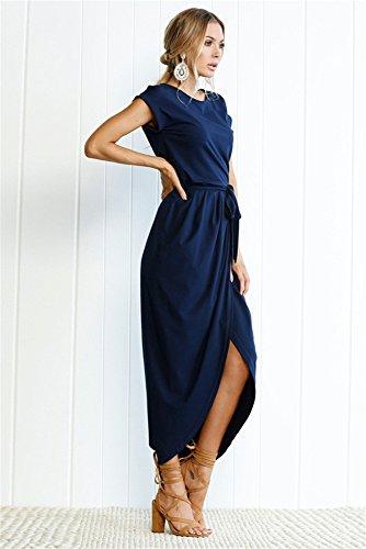 Miss Floral - Vestido - Manga corta - para mujer azul marino