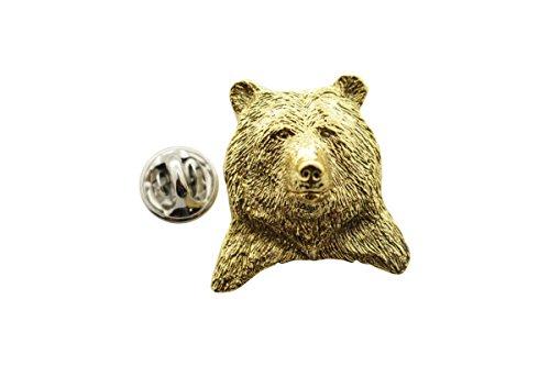 Horse Head Pin - Grizzly Bear Head Pin ~ 24K Gold ~ Lapel Pin ~ Sarah's Treats & Treasures