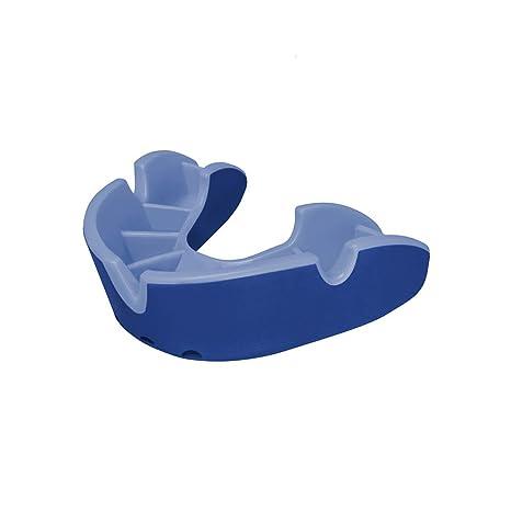 OPRO Protector Bucal Self-Fit Silver - para Rugby, Hockey, Lacrosse, fútbol Americano, Baloncesto y más - Fabricado en Reino Unido (Azul/Azul Claro, ...