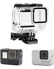 Yangers waterdichte beschermhoes behuizing accessoires voor GoPro Hero 7 Silver/White Model Action Camera, siliconen onderwaterbescherming kooiafdekking